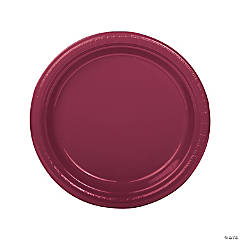 Burgundy Plastic Dinner Plates