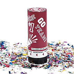 Burgundy School Spirit Party Poppers
