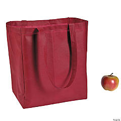Burgundy Shopper Tote Bags