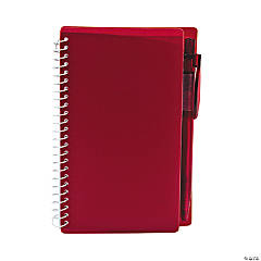 Burgundy Spiral Notebook & Pen Sets