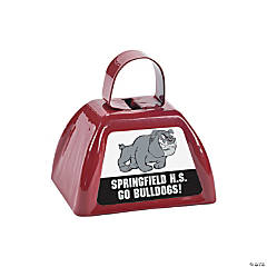 Burgundy Team Spirit Custom Photo Cowbells