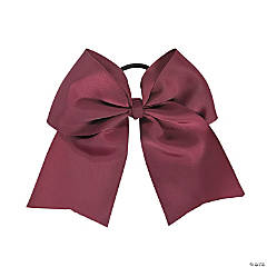 Burgundy Team Spirit Hair Bow