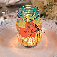 Burlap & Lace Centerpiece Idea