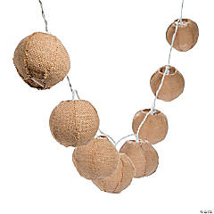 Burlap Balls String Lights