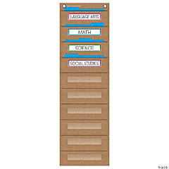 Burlap File Folder Storage Pocket Chart