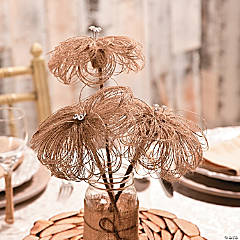 Burlap Flower Centerpiece Idea