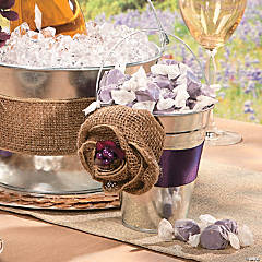 Burlap Flowers Idea
