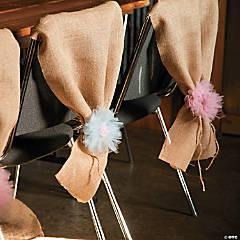 Burlap Guest Chair Décor Idea