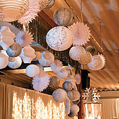 Burlap Hanging Lantern Idea