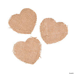 Burlap Heart Shapes