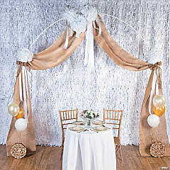 Burlap Wedding Arch Decor Idea
