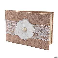 Burlap Wedding Guest Book
