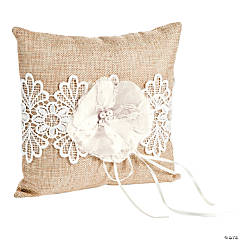 Burlap Wedding Ring Pillow