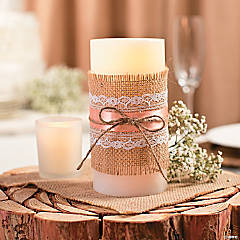 Burlap-Wrapped Candle Idea