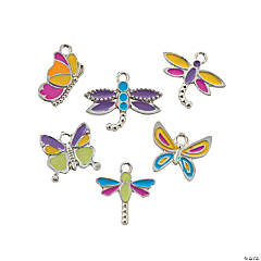 Butterfly & Dragonfly Enamel Charms