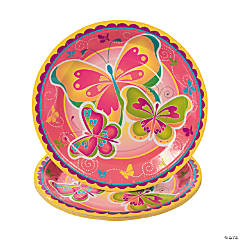 Butterfly Party Paper Dinner Plates