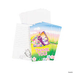 Butterfly 1st Birthday Thank You Cards