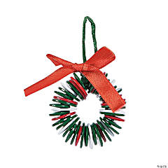 Button Wreath Christmas Ornament Craft Kit