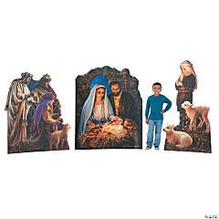 BUY ALL & SAVE Nativity Stand-Ups