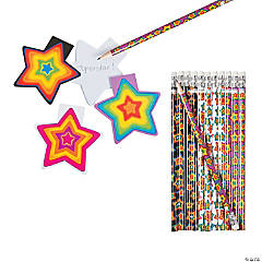 Buy Both & Save Neon Stars Stationery Pack