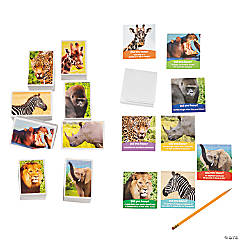 Buy Both & Save Realistic Safari Animal Stationery Pack