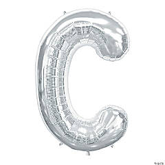 C Silver Letter Mylar Balloon