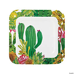 Cactus Party Paper Dinner Plates