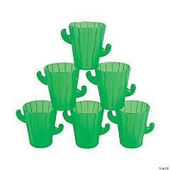 Cactus Plastic Shot Glasses
