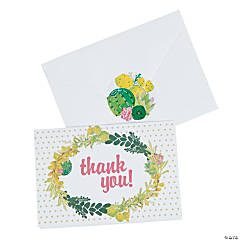 Cactus Shower Thank You Cards