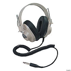 Califone Deluxe Mono Headphone, Fixed Coiled Cord