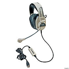 Califone Deluxe Multimedia Stereo Headset with Boom Microphone with USB plug