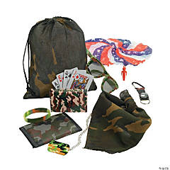 Camo/Army Pre-Filled Treat Drawstring Bags