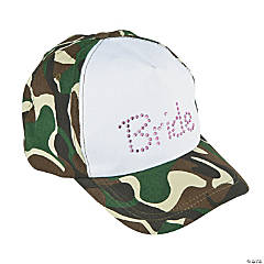 Camouflage & Jewel Bride Baseball Hat