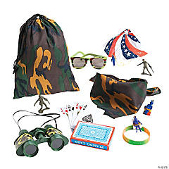 Camouflage Army Pre-Filled Drawstring Goody Bags