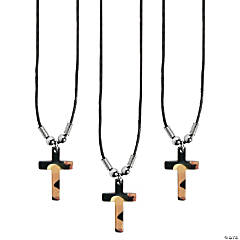 Camouflage Cross Necklaces