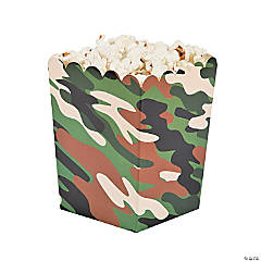 Camouflage Popcorn Boxes