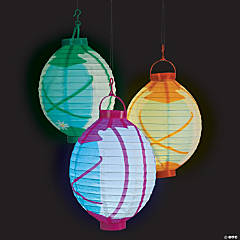Camp Glam Light-Up Hanging Paper Lanterns
