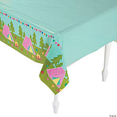 Camp Glam Plastic Tablecloth