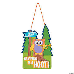 Camping is a Hoot Sign Craft Kit