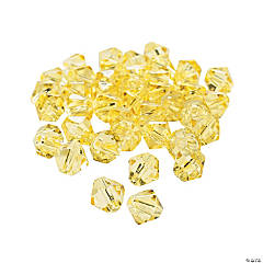 Canary Yellow Crystal Bicone Beads - 8mm