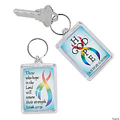 Cancer Awareness Faith Key Chains