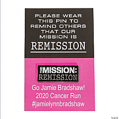 Cancer Remission Pins on Personalized Card