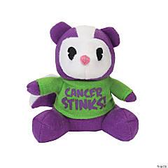 Cancer Stinks Purple Stuffed Skunks