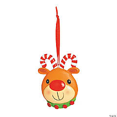 Candy Cane Antler Reindeer Christmas Ornaments