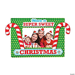 Candy Cane Christmas Picture Frame Magnet Craft Kit