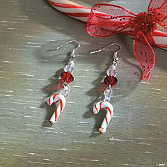 Candy Cane Lampwork Earrings