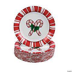 Candy Cane Paper Dessert Plates