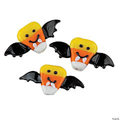 Candy Corn Bat Lampwork Beads