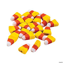 Candy Corn Lampwork Beads - 15mm
