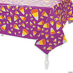 Candy Corn Plastic Tablecloth